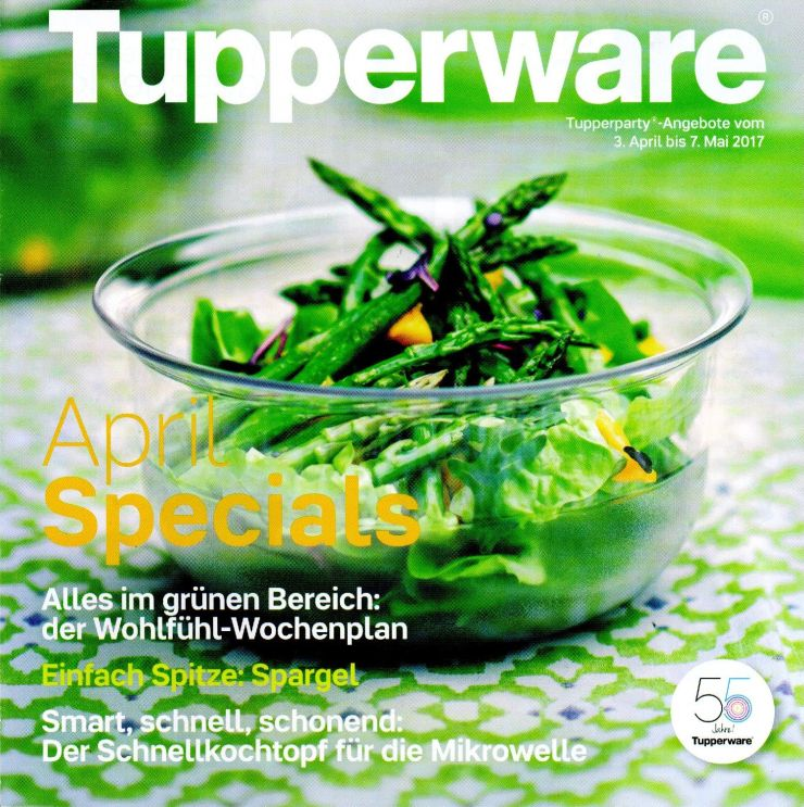 Tupperware-Heimparty zur April-Aktion am 2. Mai