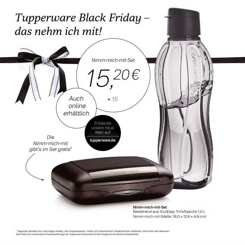 Tupper meets Black Friday