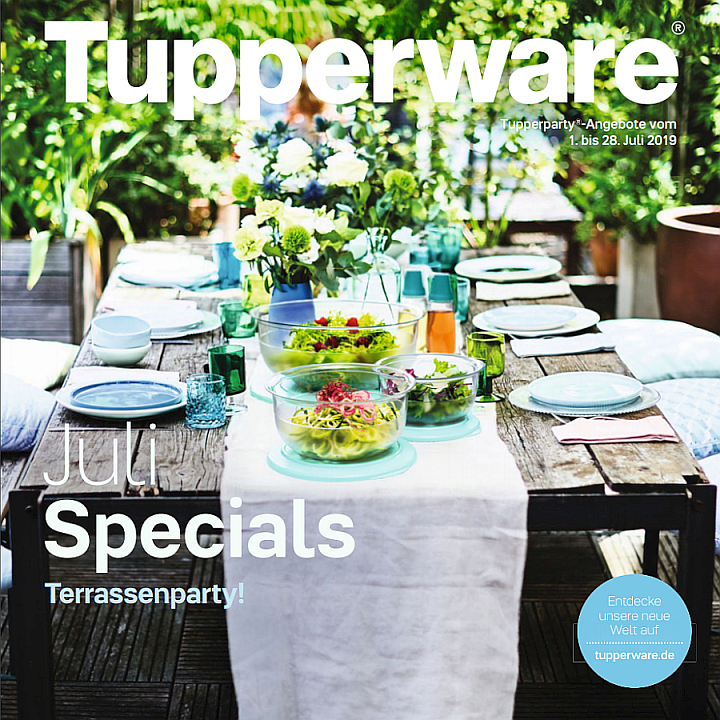 Der Juli 2019 bringt Klarheit in die  Tupperware