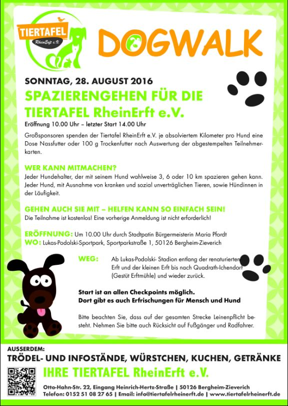 Dogwalk für die Tiertafel Rhein-Erft