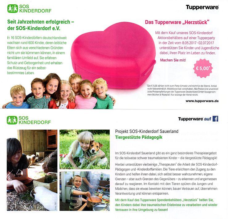 Mit Tupperware für das SOS-Kinderdorf Sauerland